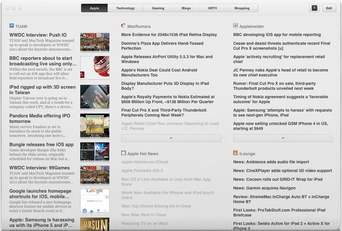 Mac App Focus » RSS Feeds